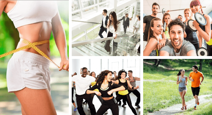 health hacks with gym activities - people taking fitness classes