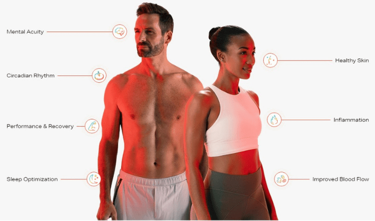 what are the health benefits of the joovv red light therapy device